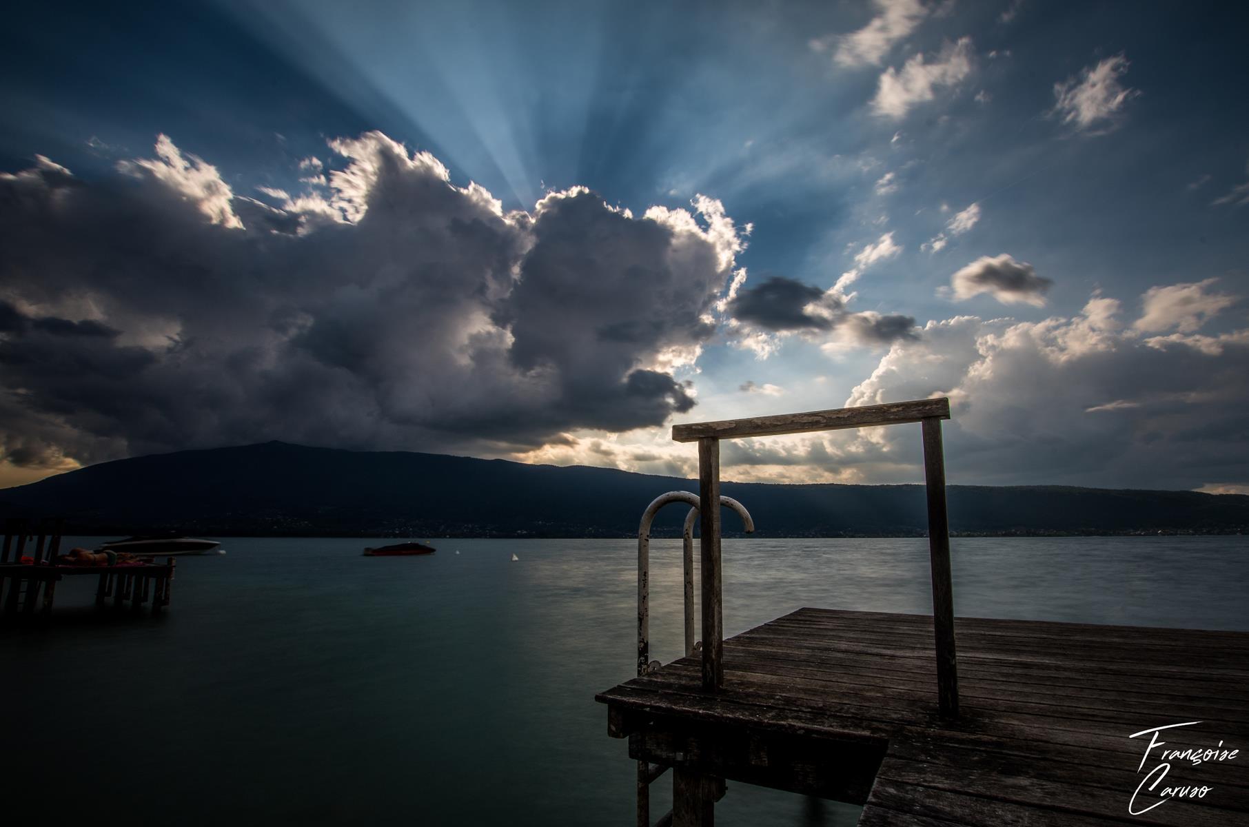 Lac annecy -ponton -menthon