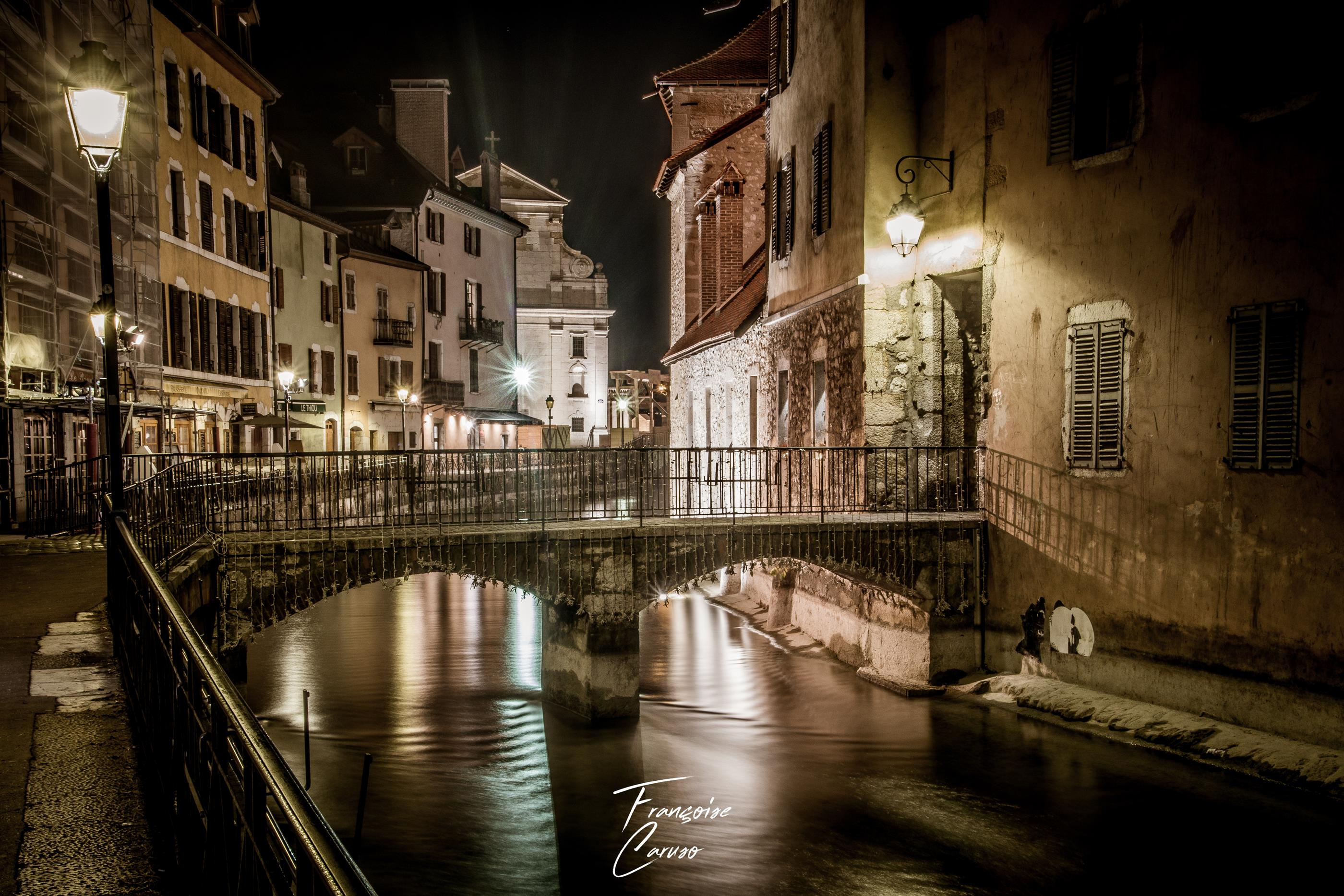 Ville d'annecy - Photo annecy la nuit